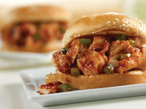 Barbecued Chicken Sandwiches | KitchenDaily.com