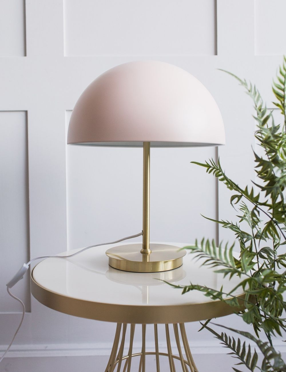 This Cute Little Metal Lamp Is Perfect For Placing On A Bedside