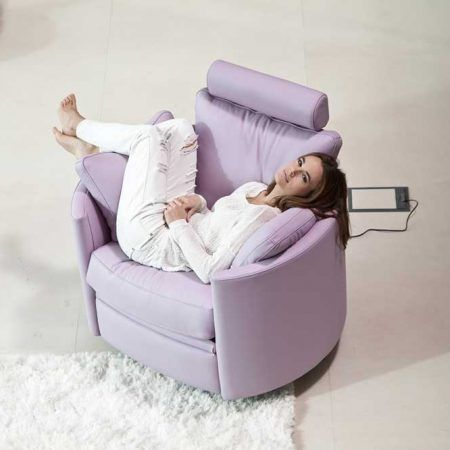 Fama Moon Chair Electric Leather Chair Furniture Bassinet