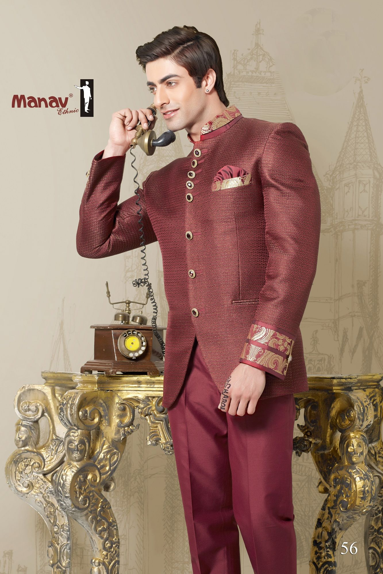 Dressing well is good manners. This startling rust colour jodhpuri ...