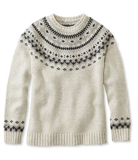 L.L.Bean Classic Ragg Wool Sweater, Fair Isle Crewneck | Wish List ...