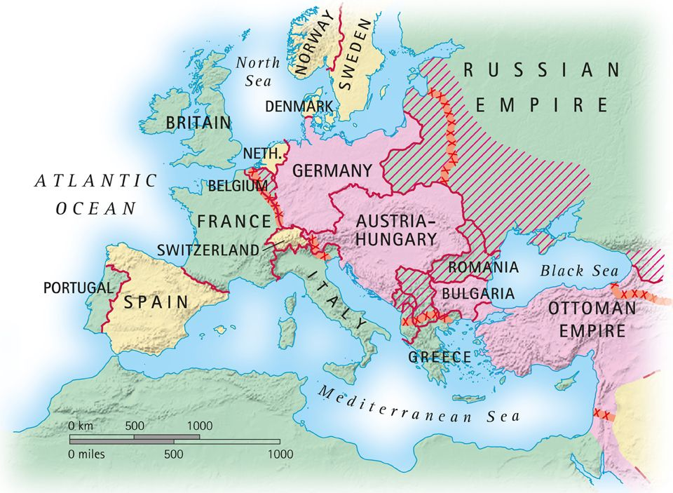 Taking You Back To Relive The Start Of The First World War - Europe world war1 map 1914