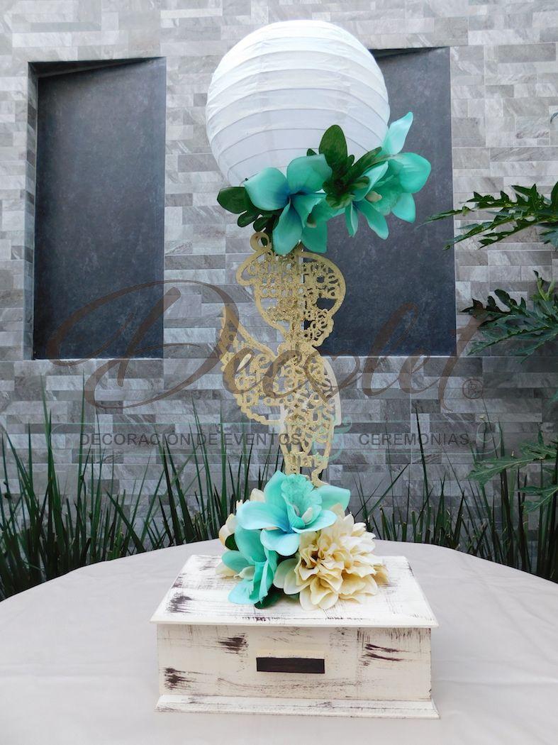 Centro de mesa ngel floral fabricado en mdf con oraci n del ngel de la guarda decorado con - Centros de mesa para primera comunion originales ...