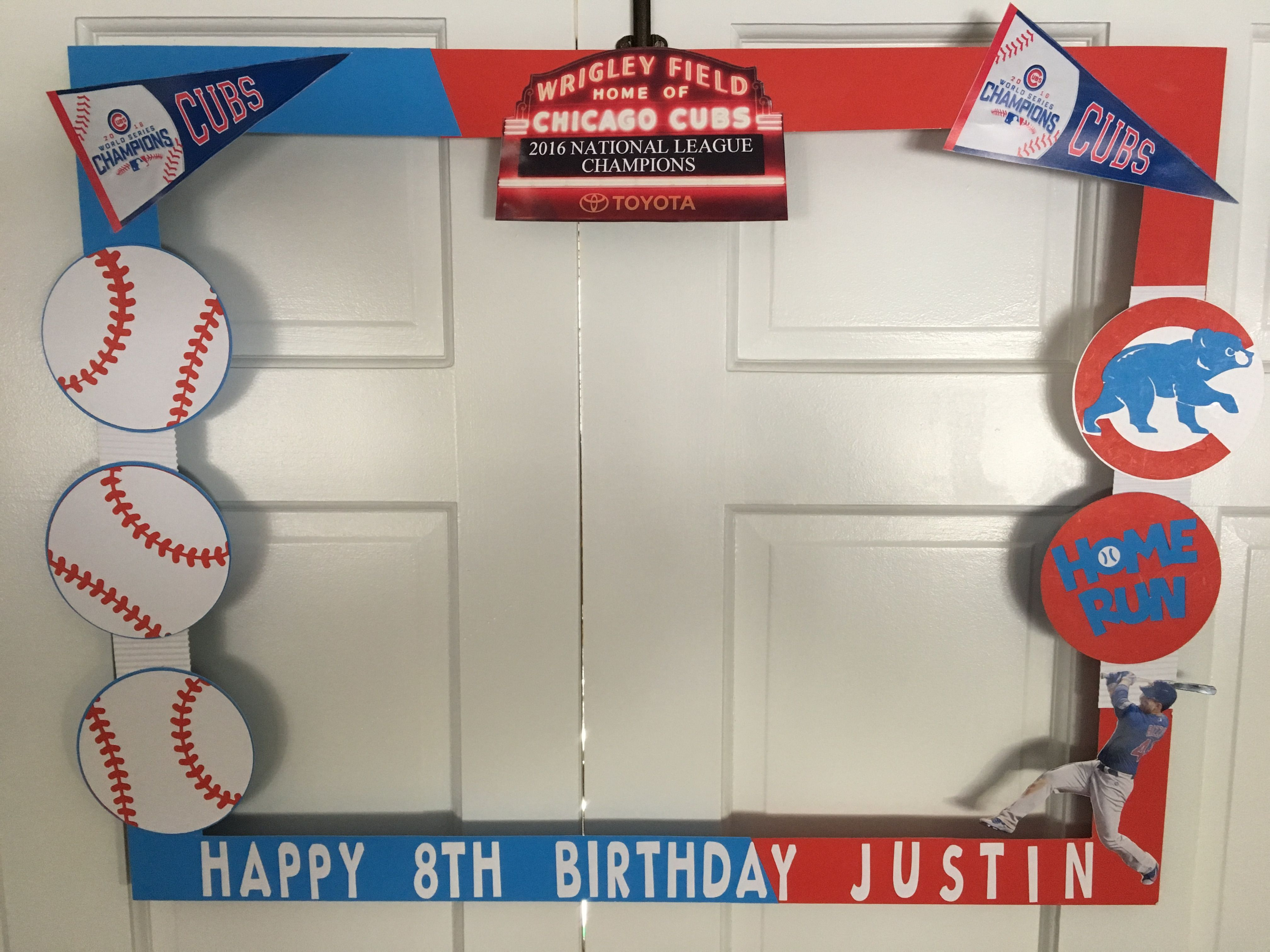 Photo prop frame for baseball themed birthday | Baseball Birthday ...