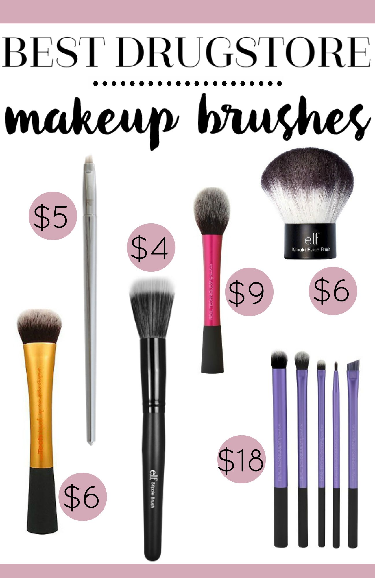 Best Drugstore Makeup Brushes You'll Want To Try