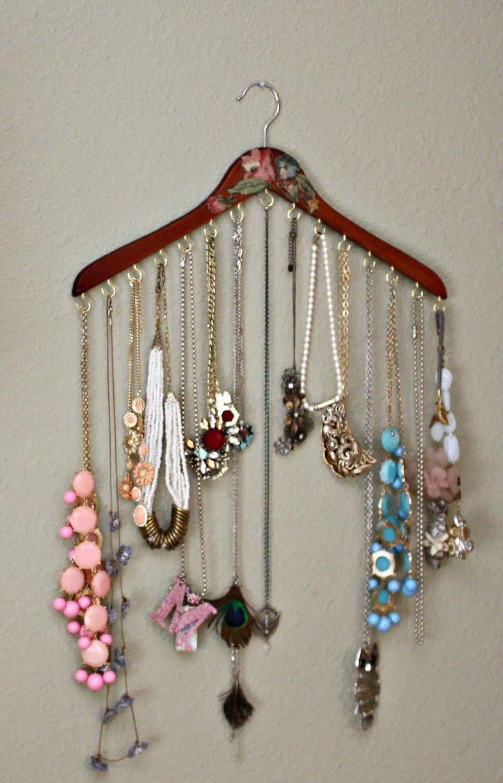 34 maneiras simples de organizar colares | Um Brinco | Mostruário ...