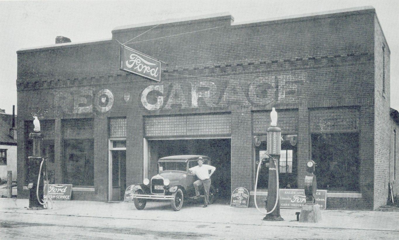 Sides & Milburn Ford Dealership Rushville, Nebraska 1928