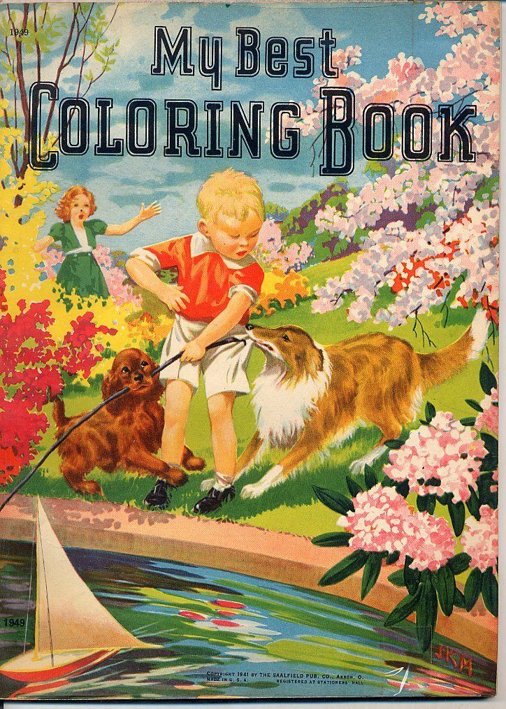 My Best Coloring Book Saalfield 1941 Illustrated By Luprian