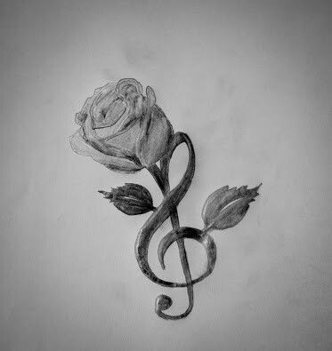 Photo of Treble clef and rose                                                            …