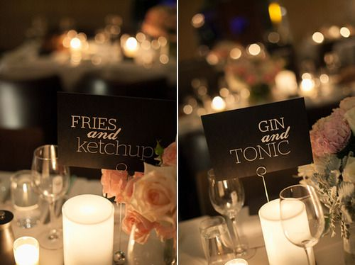 Unusual Wedding Table Names