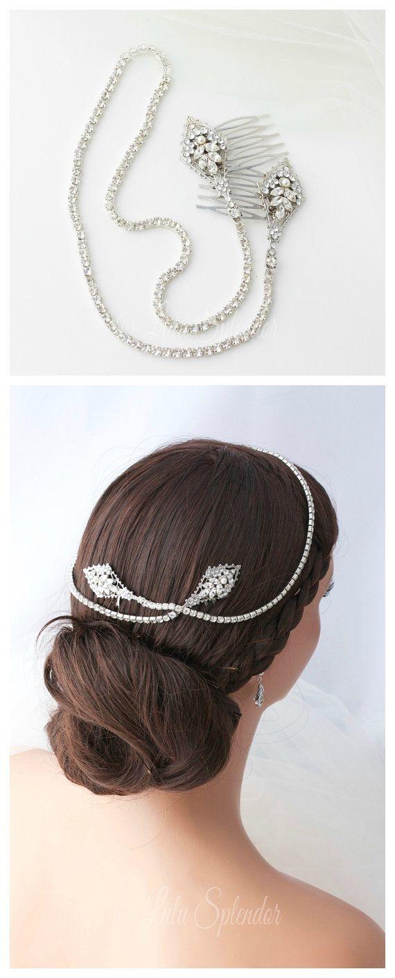 Bridal hair vine crystal wedding hair accessory rhinestone bridal