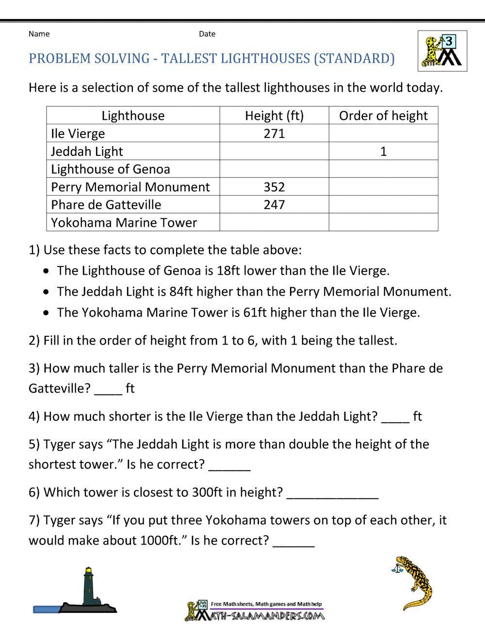 7 Integer Word Problems Worksheet   Math word problems [ 1294 x 1000 Pixel ]