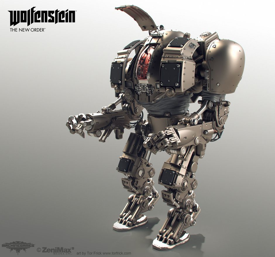 Wolfenstein: The New Order Highpoly Robots By Tor Frick