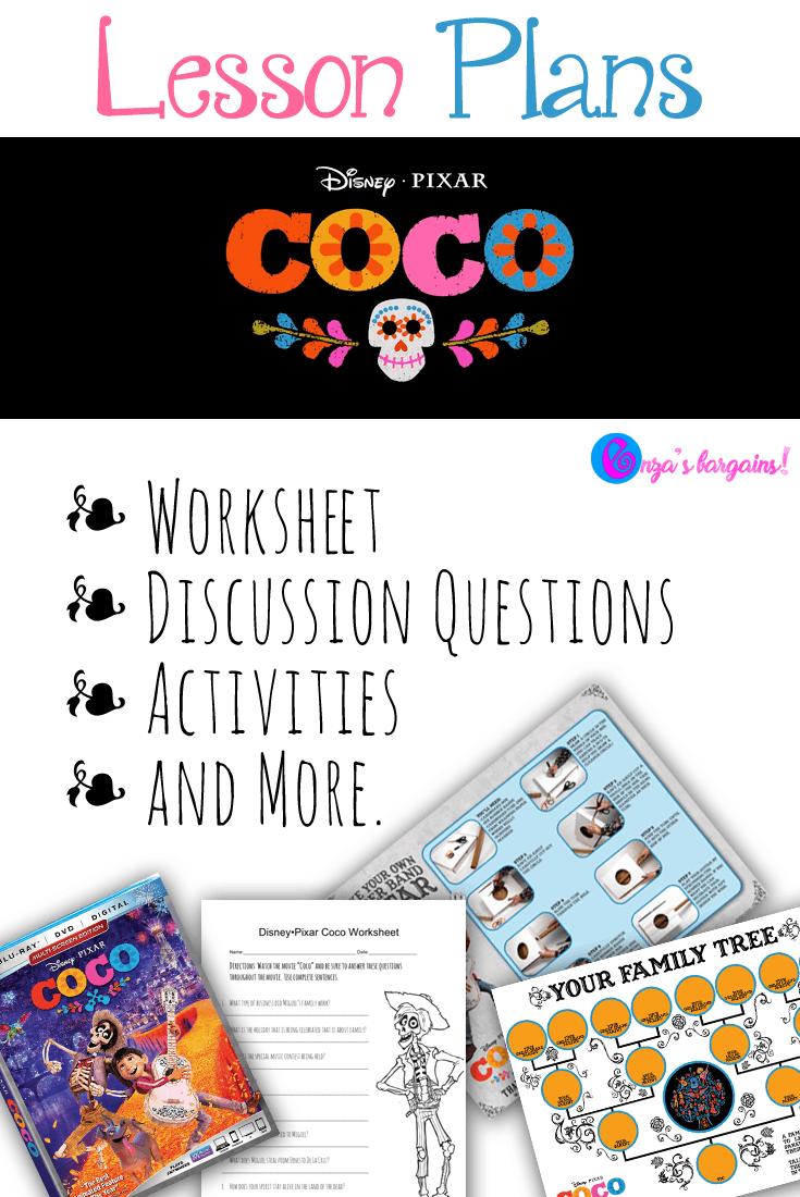 Disney Pixar Coco Lesson Plans Disney Lessons Fun Lesson Plans Movie Lesson Plans [ 1100 x 735 Pixel ]