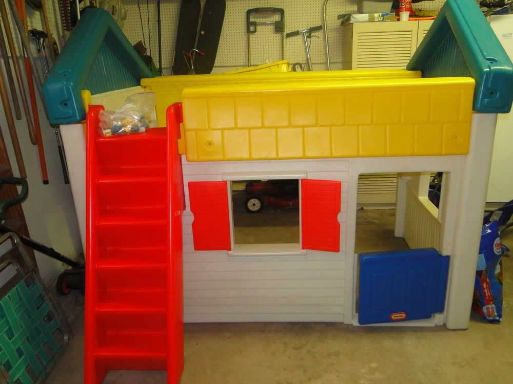 Little tikes twin loft play house bed rare rare for Little tikes house