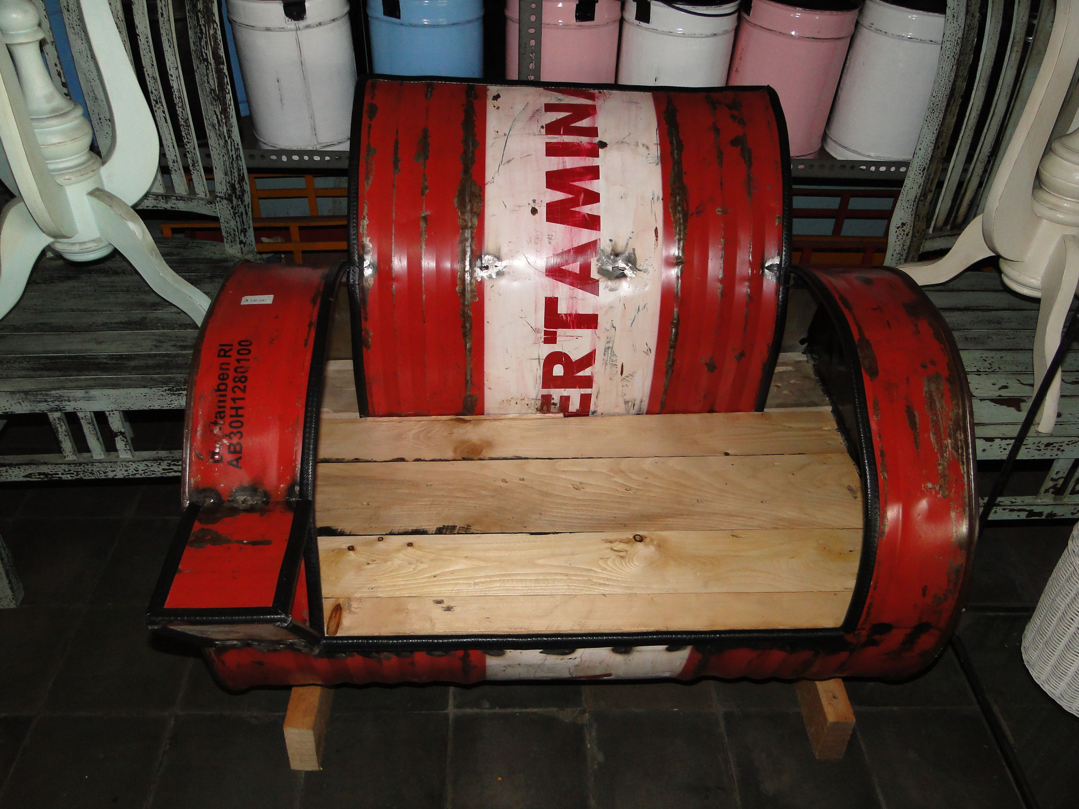 Recycled Oil Drum Chair From Bali Recycled Home Furnishings