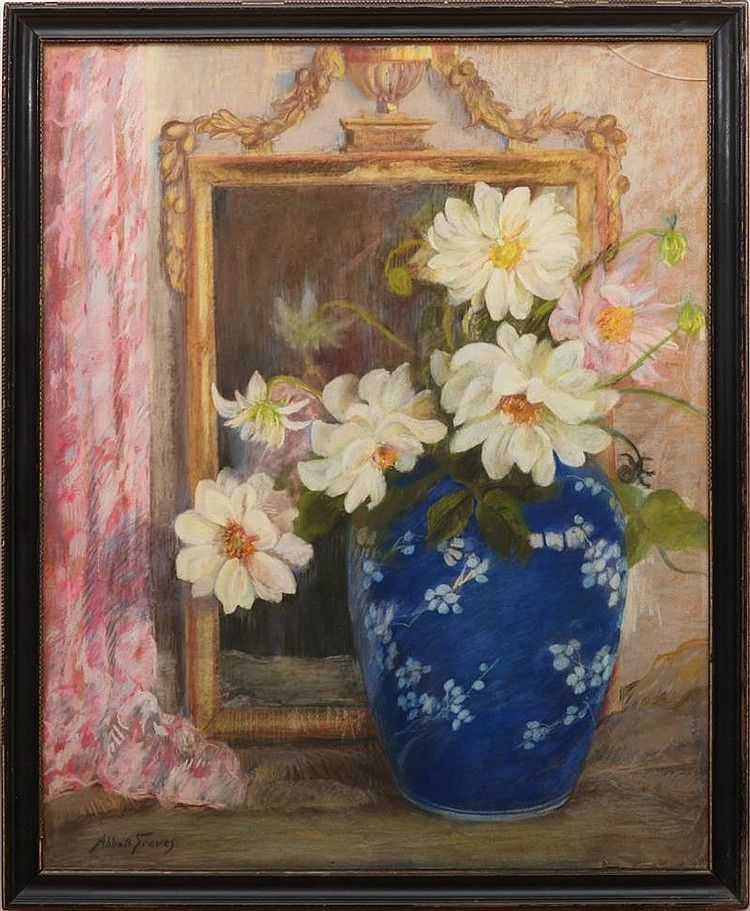 FREE SHIPPING Original Oil Painting Two Flowers Home decor