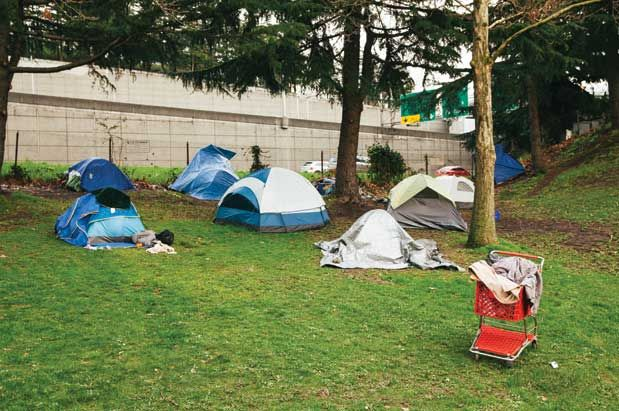 Tent Cities And Seattle S Growing Homeless Population Seattle Magazine Crime City Seattle Magazine Tent
