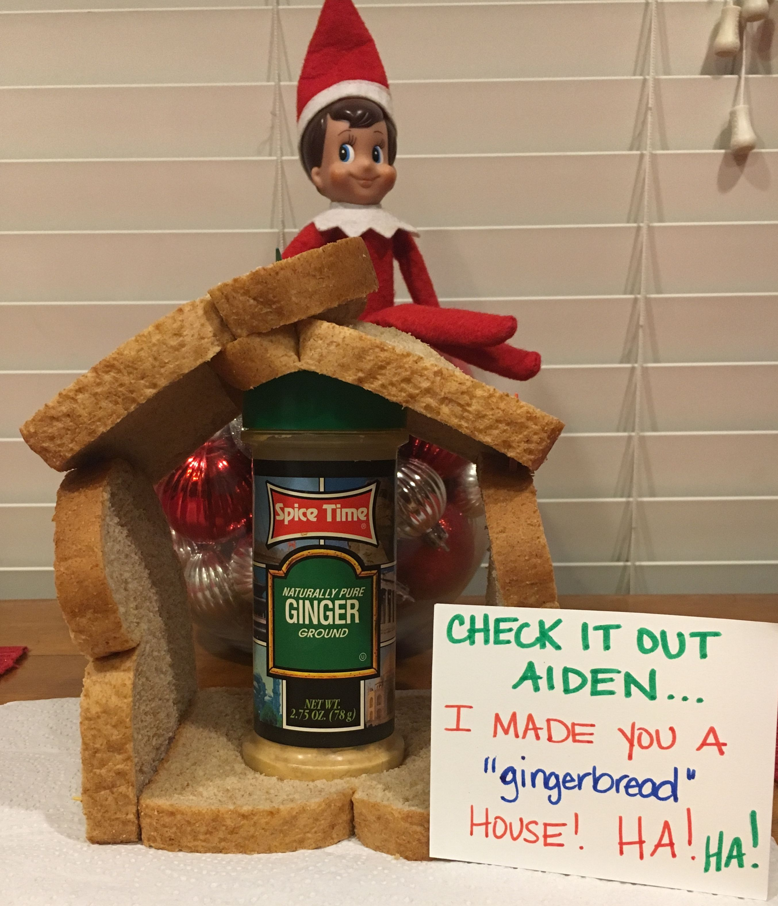 our elf Chester made a late appearance but we are super