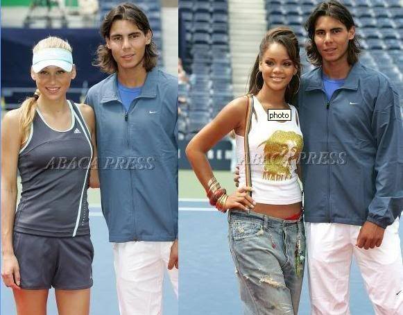 Rafael Nadal With Anna Kournikova And Rihanna Us Open Kids Day Rafael Nadal Anna Kournikova Rafa Nadal