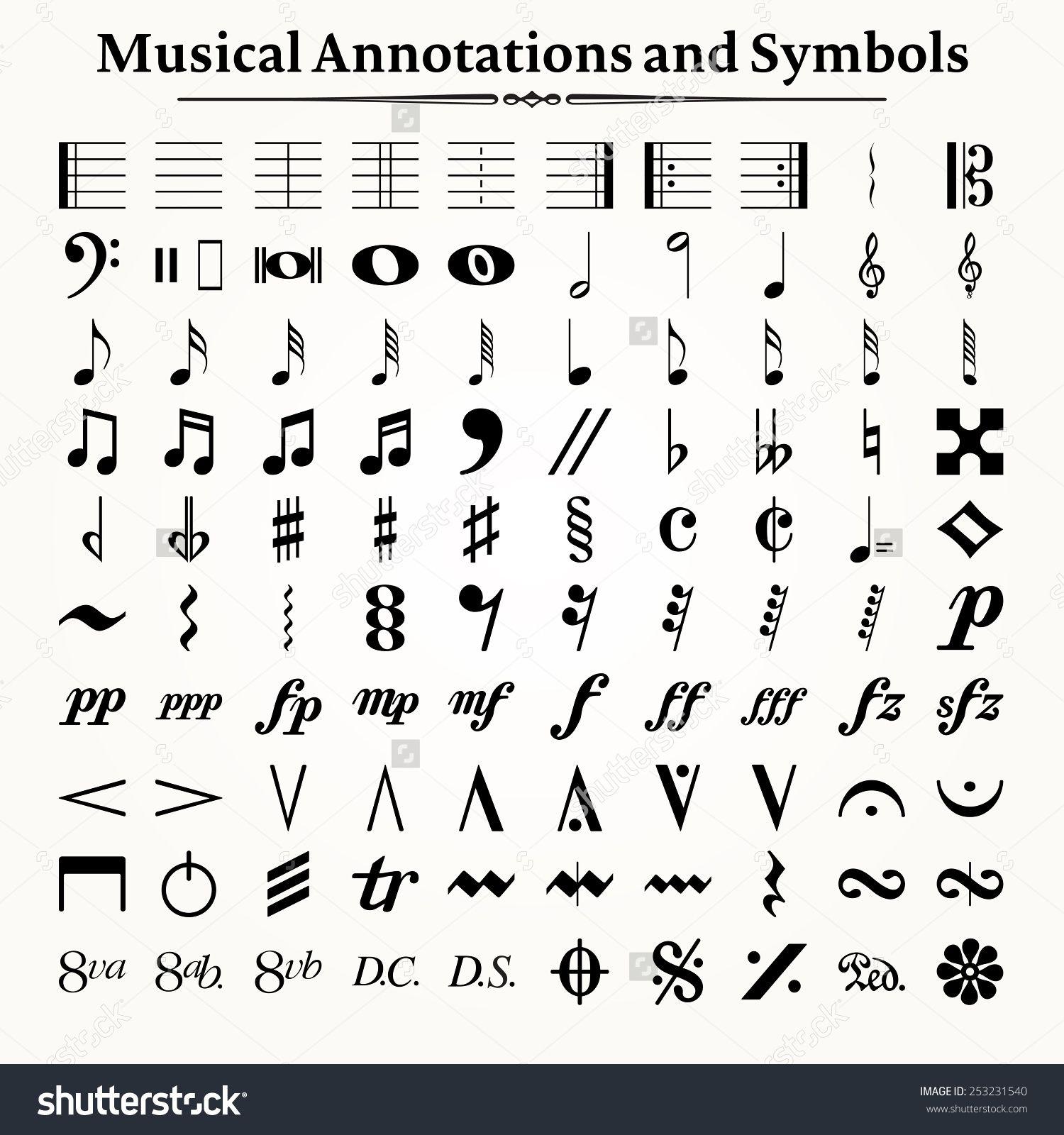 Image result for music symbols Music symbols, Music