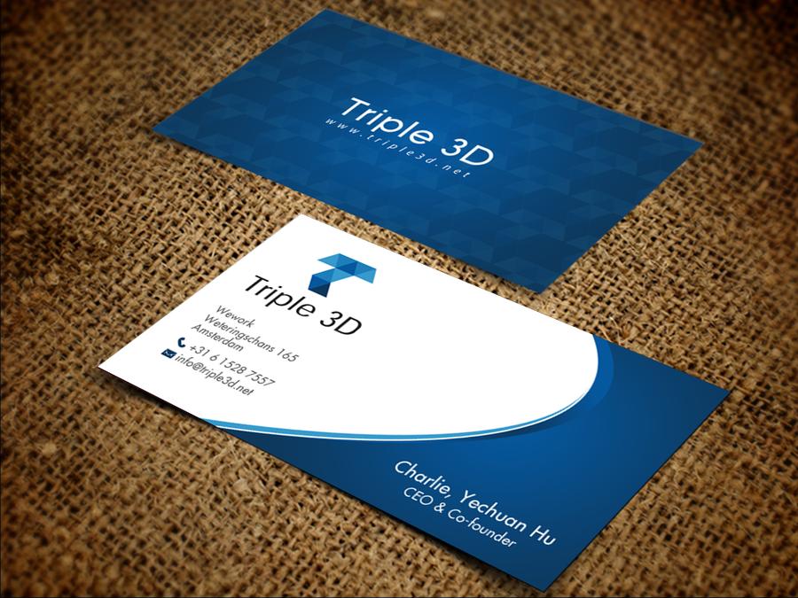 Triple 3D New Business Card by chandrayaan.creative | Social media ...