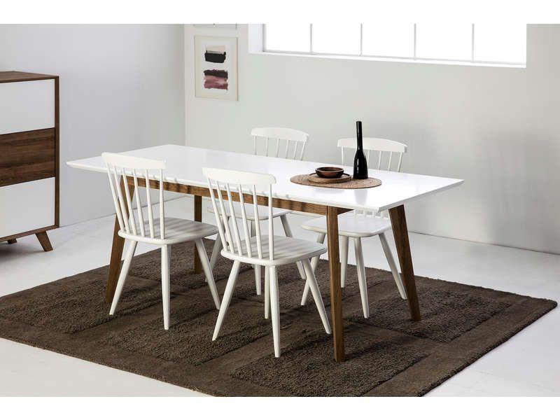 Table 150 Cm Avec Allonge Table Salle A Manger Table Design Moderne