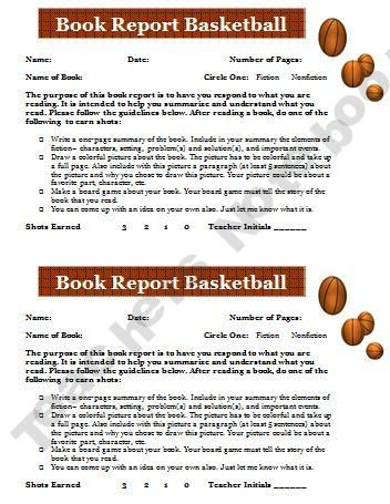 Basketball Book Report For Motivating Readers