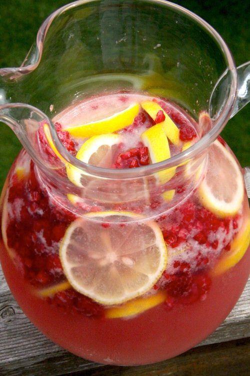 TGIF - Pink Lemonade with seasonal fruit recipe