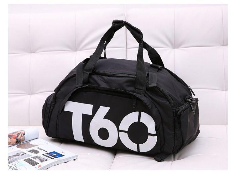 495ef5698c Brand New Gym Sac T60 Marque Étanche Multi-fonctions Extérieur Hommes  bagages voyage Sac Hommes Sacs À Dos de Sport Sac de Sport