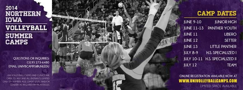 Sign Up At Univolleyballcamps Com Northern Iowa Online Registration This Or That Questions