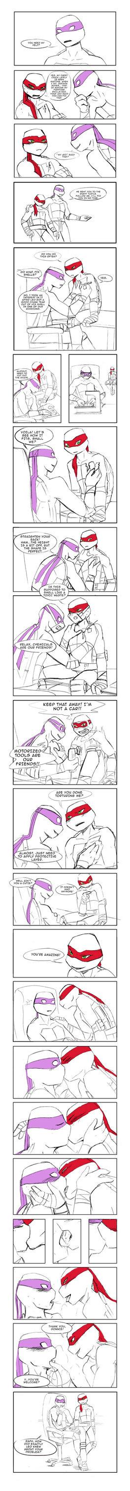 Raph's chest crack smut by NeatTea | love raphael | Ninja