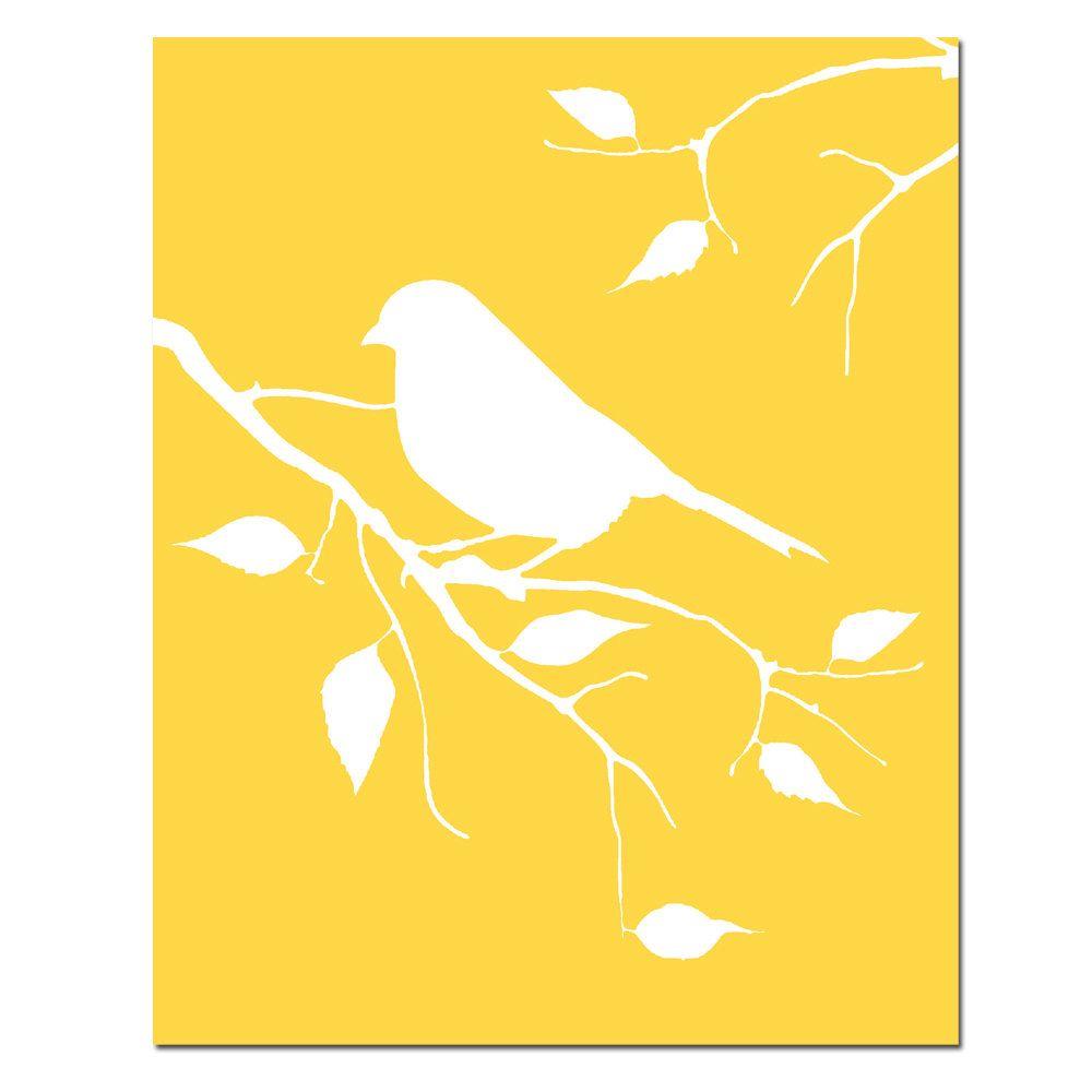 Bird on a Branch - 8x10 Bird Silhouette Print - Modern Nursery Decor ...