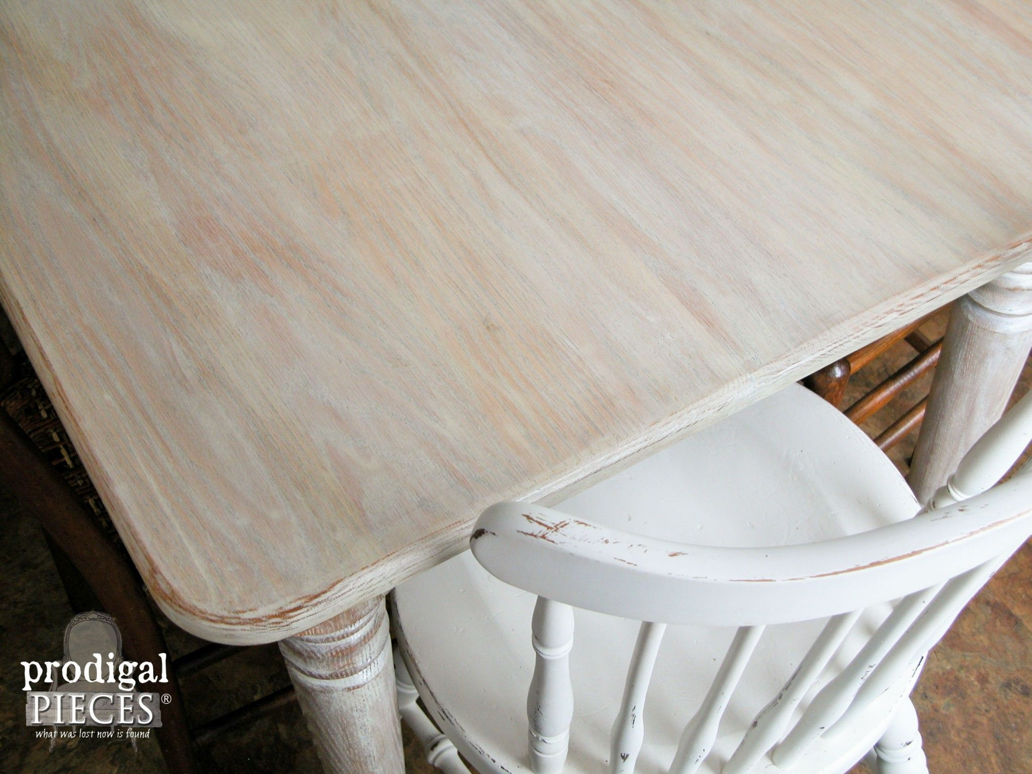 Limewashed Whitewashed Farmhouse Table Top By Prodigal Pieces Www Prodigalpieces Com White Wood Table Diy Table Top Table Makeover