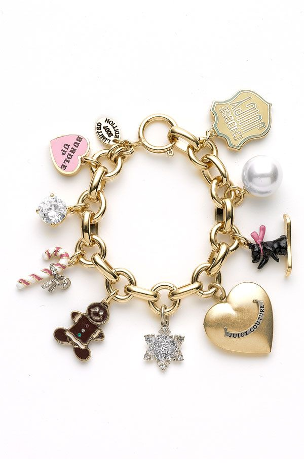 Juicy Couture Goldtone Bracelet With Charms At All Costs Jewelry & Watches
