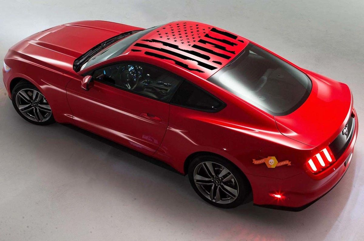 Product 2005 2014 Ford Mustang Distressed Flag Roof Panel Decal Choose Color Autos