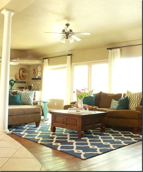 Living Room Ideas & Tuscan Nadra Treklis Rug from Rugs USA | Rugs ...
