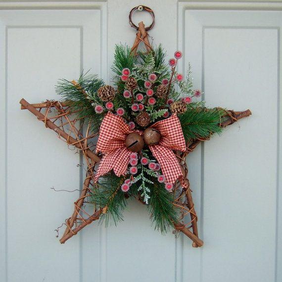 Photo of Items similar to Christmas Wreath –  Holiday Door Wreath, Christmas Holiday Wreath on Etsy