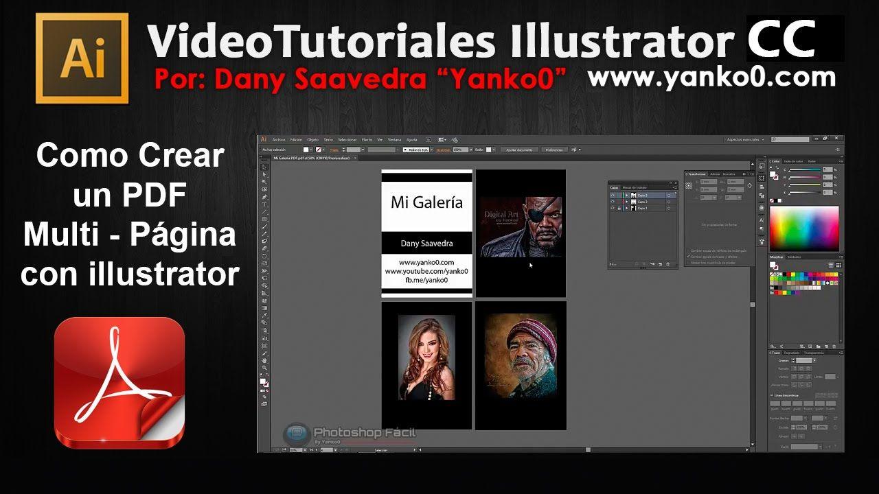 Como crear un PDF multi pagina con Illustrator