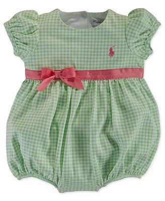 Ralph Lauren Baby Girls' Gingham Shortall
