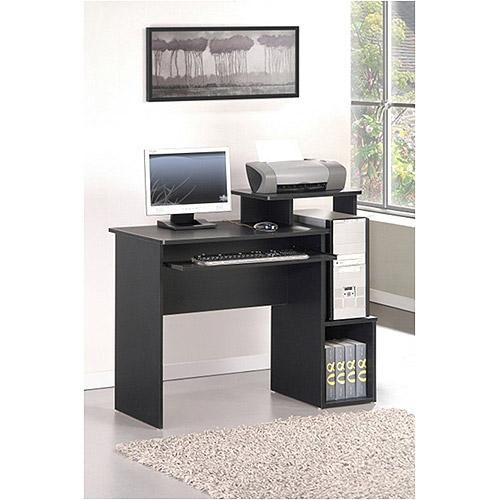 Multipurpose Home/Office Computer Writing Desk with Bin - Black