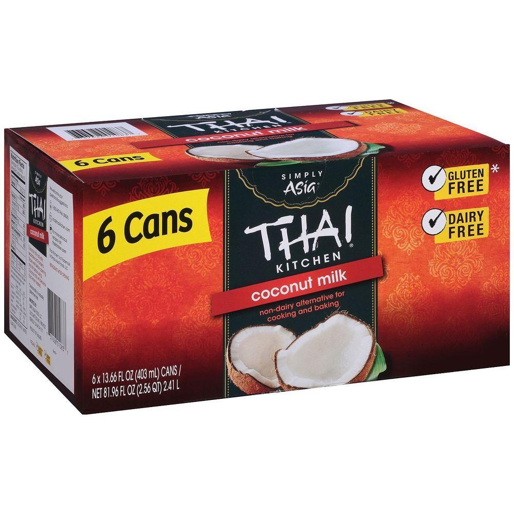 6 Thai Kitchen Coconut Milk Non Dairy Vegan Cooking Baking Dairy