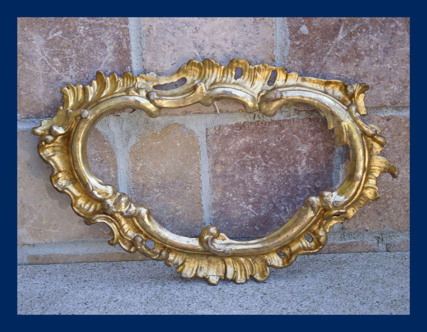 Spiegelrahmen, Kanontafel - Holz geschnitzt, vergoldet, 18. Jahrhundert (# 4968) | eBay