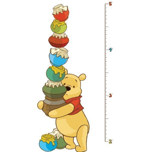 RoomMates RMK1501GC Pooh and Friends Peel & Stick Growth Chart by RoomMates. $17.99. From the Manufacturer                Watch your little ones grow with the help of this adorable Pooh and Friends peel and stick growth chart. The chart assembles easily on the wall, and can be moved and reused over and over again. It's the perfect way to keep track of important milestones with the help of Winnie the Pooh and his friends! Match it with our other Pooh and Friends designs (sol...