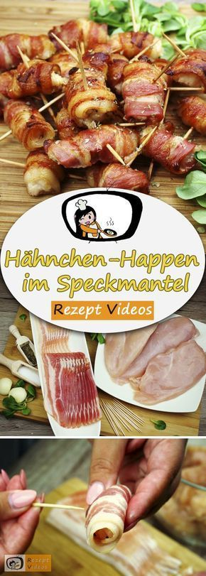 Hähnchen-Happen im Speckmantel #fingerfoodrezepteschnelleinfach