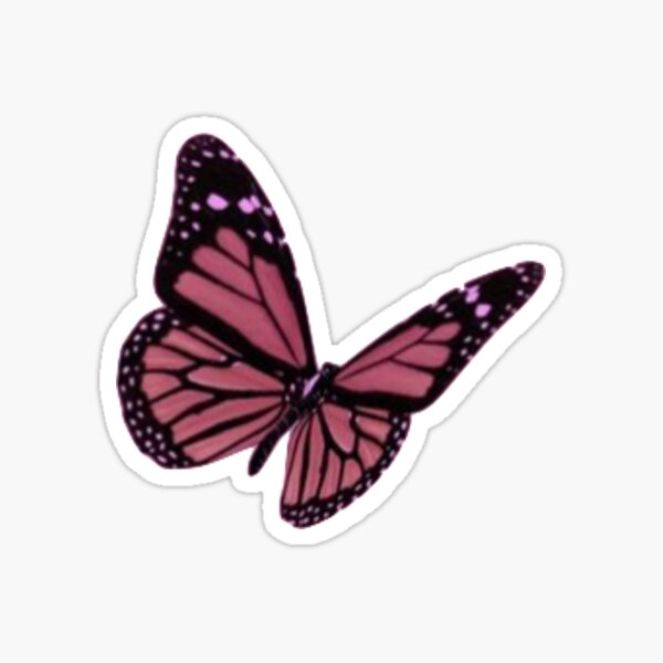 Pink Butterfly Aesthetic Stickers In 2020 Aesthetic Stickers Pink Butterfly Stickers