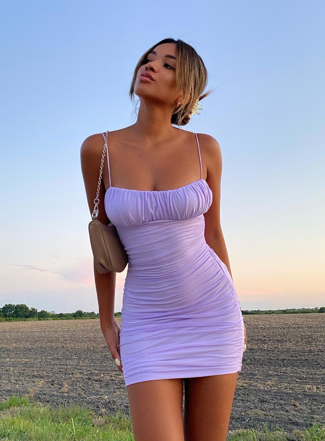 Penney Mini Dress Purple - US 2 / Purple