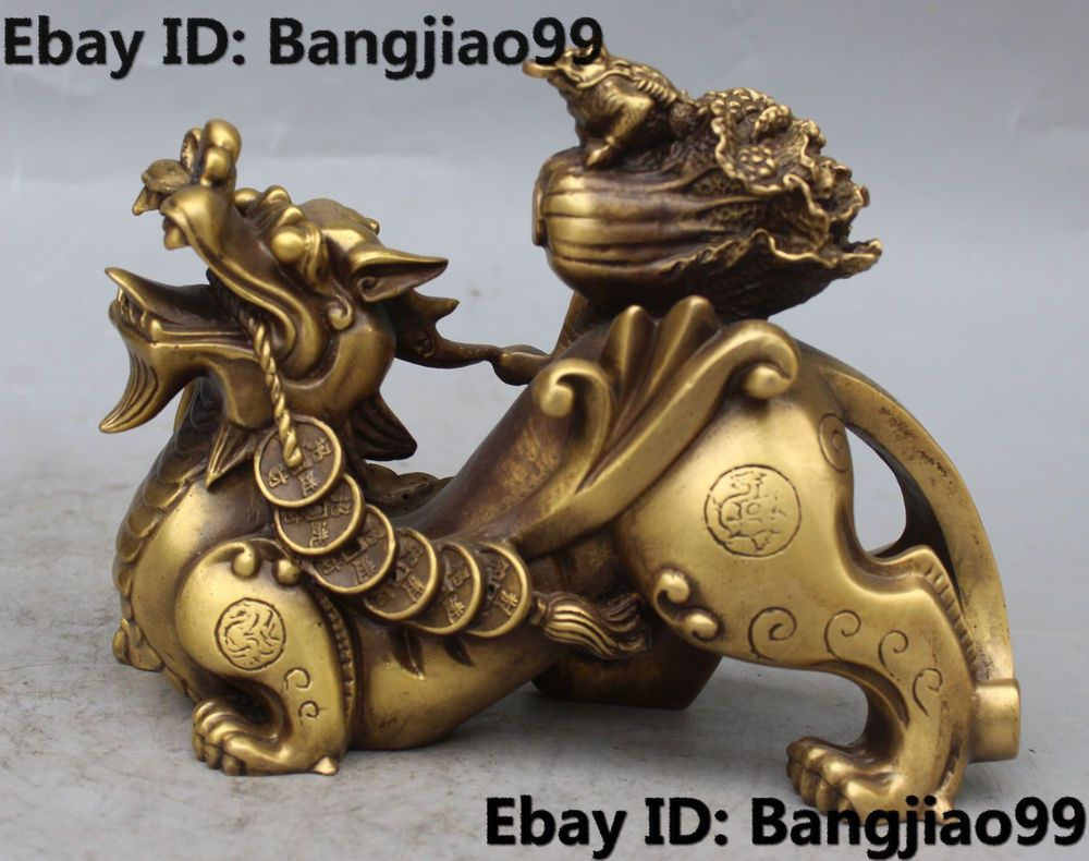 Chinese Feng Shui Statue Zodiac Dragon Figurine Money Lucky Wealth Fortune