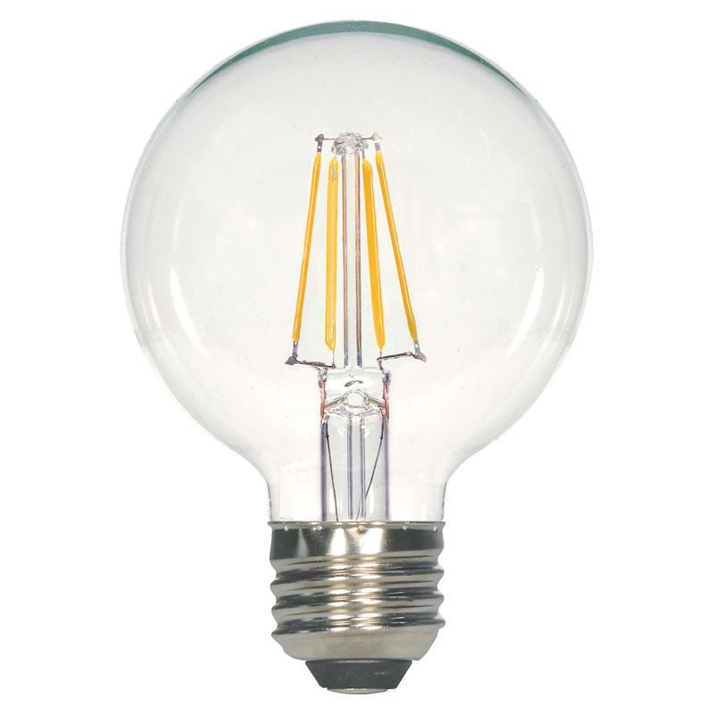 Clear G25 Led Globe Light Bulb 4 5w Dimmable Light Bulbs Light Bulb Globe Light Bulbs