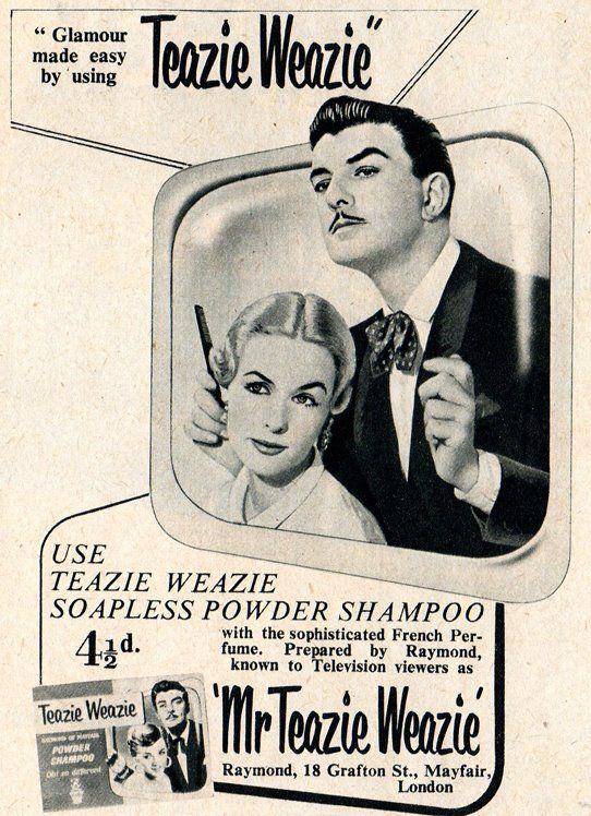 Teazie Weazie Vintage Advertising Pinterest Friseur Vintage